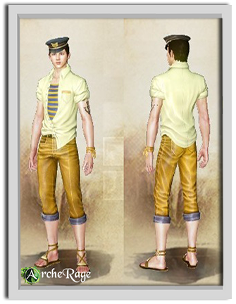 Желтый молодежный матросский костюм.png